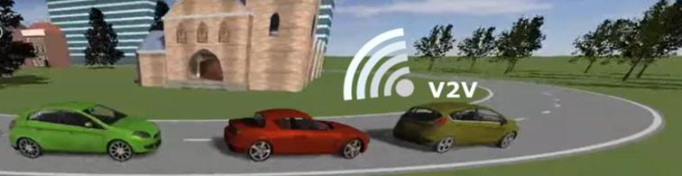 A vehicle convoy scenario